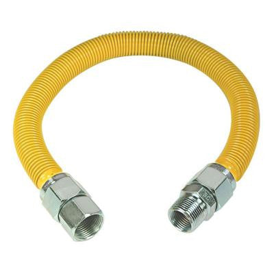 ProCoat 3/4 in. FIP x 3/4 in. MIP x 36 in. Stainless Steel Gas Connector 7/8 in. OD (255,900 BTU)