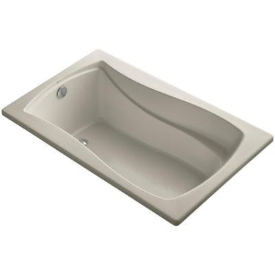 Mariposa 5 ft. Reversible Drain Soaking Tub in Sandbar with Bask Heated Surface