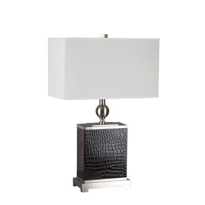 25 in. Dark Espresso Color Table Lamp