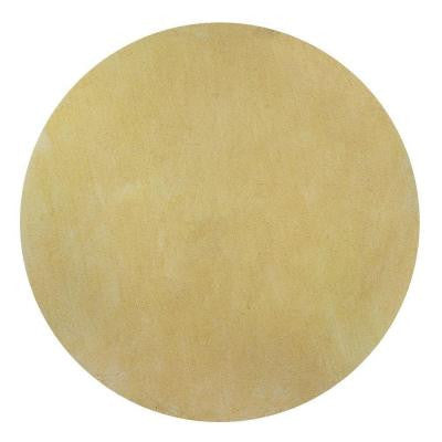 Cozy Shag Canary Yellow 6 ft. x 6 ft. Round Area Rug