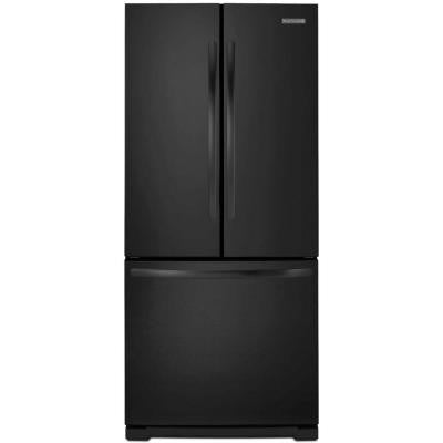 Architect Series II 30 in. W 19.7 cu. ft. French Door Refrigerator in Black