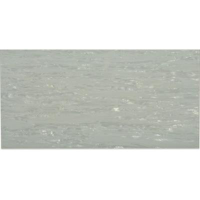 Contempo Metallic White 12 in. x 24 in. x 8 mm Glass Mosaic Tile