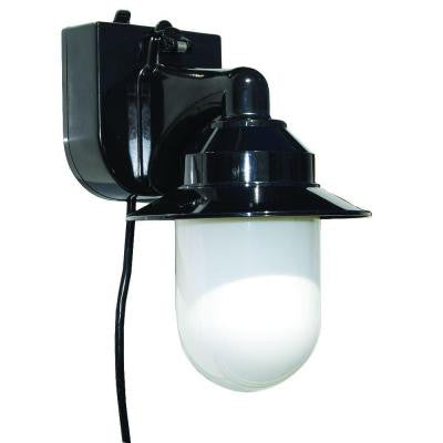 Outdoor Black Portable Black Wall Lantern with Suction Cup