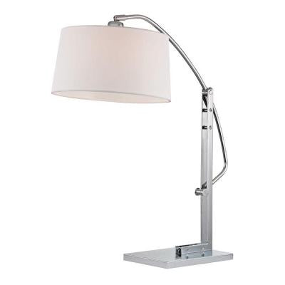 Assissi 25 in. Polished Nickel Table Lamp with Shade
