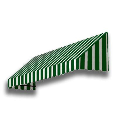 12 ft. San Francisco Window Awning (44 in. H x 24 in. D) in Forest/White Stripe