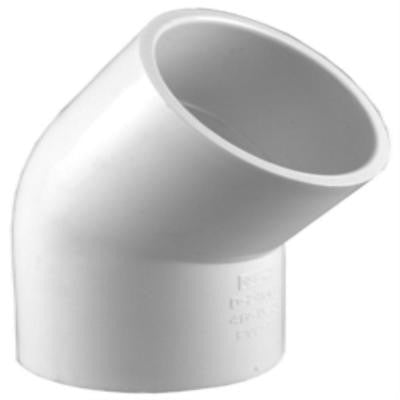 1 in. PVC Sch. 40 45-Degree S x S Elbow