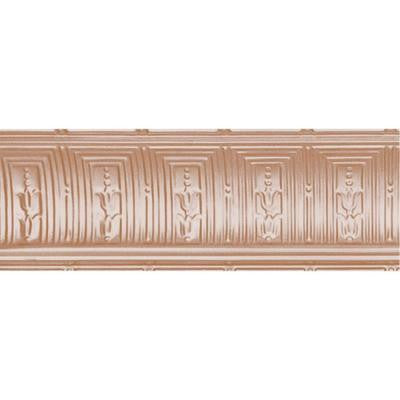 8-3/4 in. x 4 ft. x 8-3/4 in. Satin Copper Nail-up/Direct Application Tin Ceiling Cornice (6-Pack)