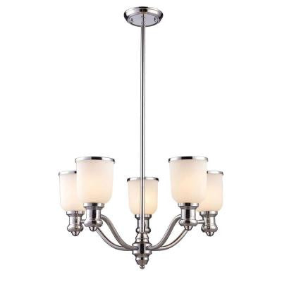 Brooksdale 5-Light Polished Chrome Chandelier