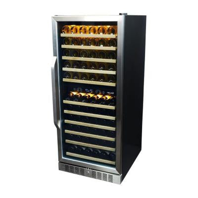 Premier Gold Series 116-Bottle Dual Zone Built In Wine Cooler