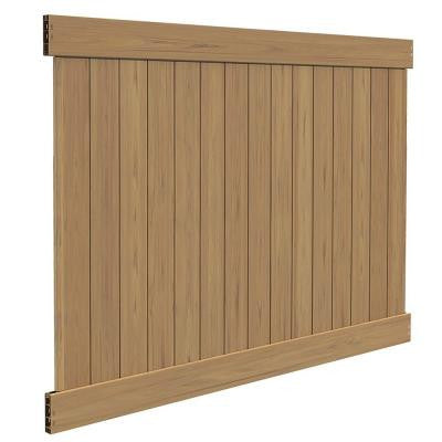 Linden 6 ft. x 8 ft. Cypress Vinyl Privacy Fence Panel Kit
