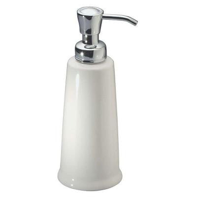 York 2 Sink Dispenser in White/Chrome