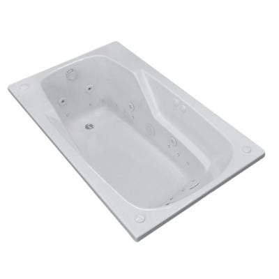 Coral 5 ft. Whirlpool and Air Bath Tub in White