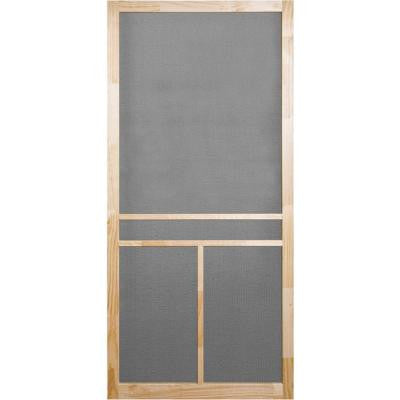 36 in. x 80 in. Unfinished Wood T-Bar Screen Door