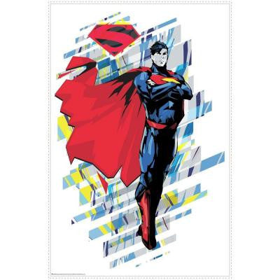 2.5 in. W x 27 in. H Classic Superman 1-Piece Peel and Stick Giant Wall Graphic