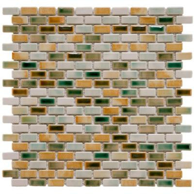 Rustica Subway Springfield 11-3/4 in. x 11-3/4 in. x 6 mm Porcelain Mosaic Floor and Wall Tile