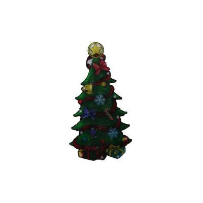 10 in. Christmas Tree Indoor Hanging Decor with 10 LED Lights