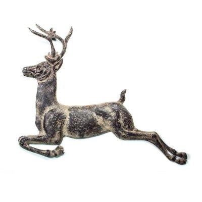 36 in. x 2 in. W x 8 in. H Metal Deer Hanging