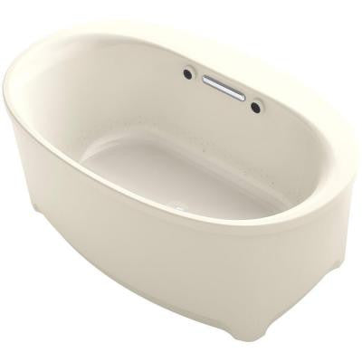 Underscore 5 ft. Air Bath Tub in Almond
