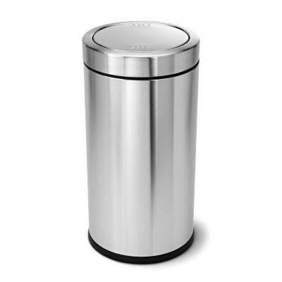 55 l Brushed Stainless Steel Swing Top Trash Can