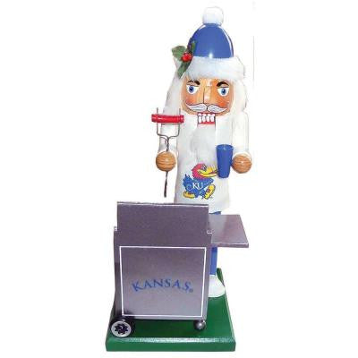 12 in. Kansas Jayhawk Tailgating Nutcracker