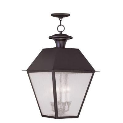Providence 4-Light Hanging Outdoor Bronze Incandescent Lantern