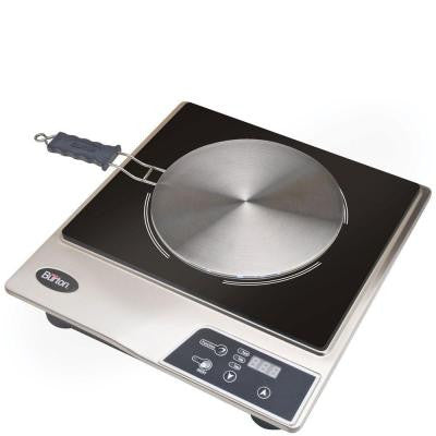 10 in. Induction Cooktop in Stainless Steel with 1 Element