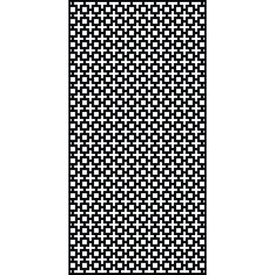 0.3 in. x 95 in. x 3.95 ft. Sahara Recycled Plastic Charcoal Decorative Screen
