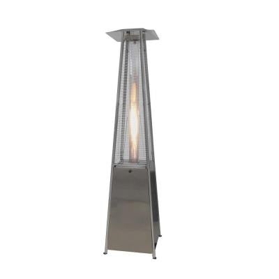 40,000 BTU Stainless Steel Pyramid Flame Propane Gas Patio Heater
