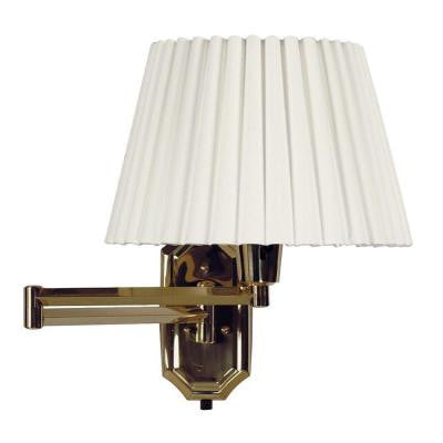 Traditions Polished Brass Wall Swing Arm Lamp