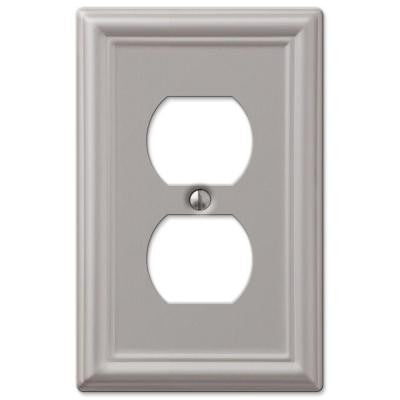 Chelsea 1 Duplex Outlet Plate - Nickel