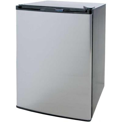 4.6 cu. ft. Compact Refrigerator in Stainless Steel with Black Cabinet