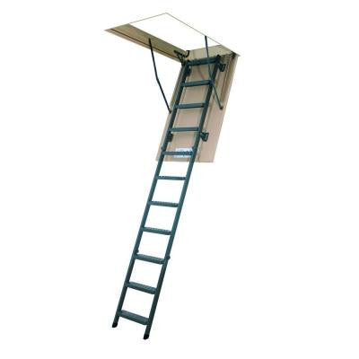10 ft. 1 in., 54 in. x 22-1/2 in. Insulated Steel Attic Ladder with 350 lb. Load Capacity Type IA Duty Rating