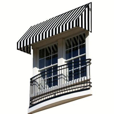 6 ft. New Yorker Window/Entry Awning (18 in. H x 36 in. D) in Black / White Stripe