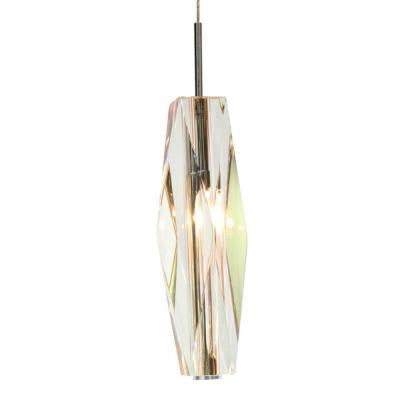 1-Light Chrome Icicle Mini Pendant with K9 Crystal