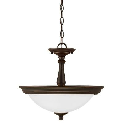 Northbrook. 2-Light Roman Bronze Indoor Convertible Semi Flush Mount
