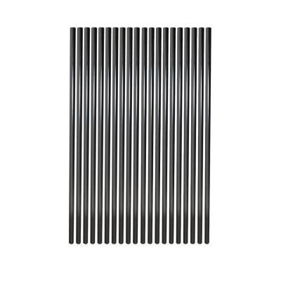 30 in. Aluminum Round Baluster-Black (20-Pack)