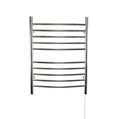 Radiant Curved Plug-In 24 in. W x 32 in. H 10-Bar Electric Towel Warmer in Polished Stainless Steel