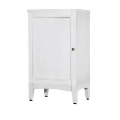 Kent 19 in. W x 33 in. H Small Linen Tower in Whitewash