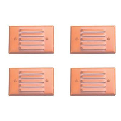 1-Light Raw Copper Outdoor Step Light (4-Pack)