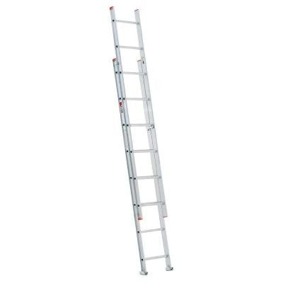 16 ft. Aluminum D-Rung Extension Ladder with 200 lb. Load Capacity Type III Duty Rating