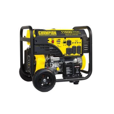 9,200/11,500-Watt Gasoline Powered Electric Start Portable Generator