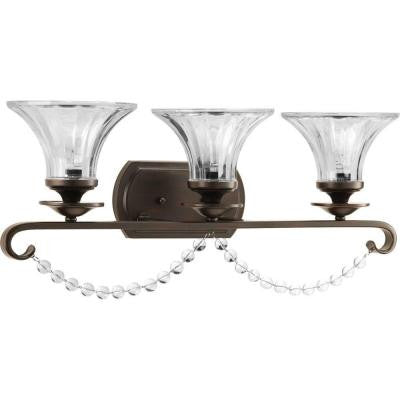 Bliss Collection 3-Light Antique Bronze Bath Light