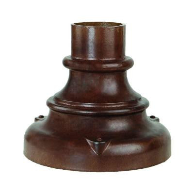 Pier Mount Adapters Collection Outdoor Burled Walnut Pier Mount