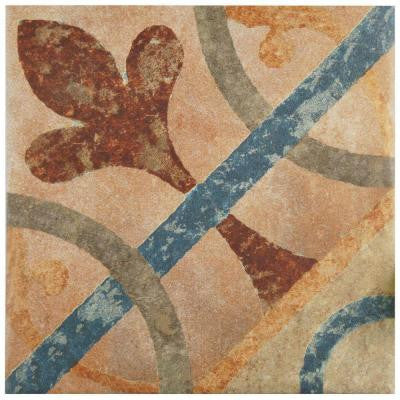 Americana Cleveland 8-3/4 in. x 8-3/4 in. Porcelain Floor and Wall Tile (10.87 sq. ft. / case)
