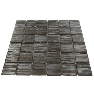Gemini Redwood 11-3/4 in. x 11 in. x 6 mm Glass Mosaic Tile