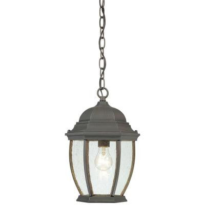 Covington 1-Light Hanging Outdoor Painted Bronze Lantern