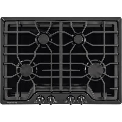 Gallery 30 in. Gas Cooktop in Black with 4 Burners