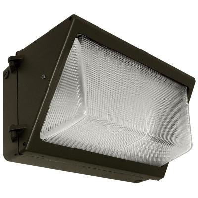 58-Watt Bronze Outdoor LED Wall Pack