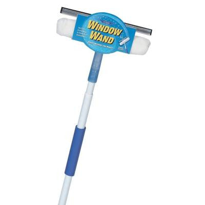 Squeegee and Scrubber Combo Window Wand