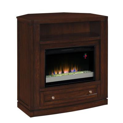 Wesleyan 40 in. Convertible Media Console Electric Fireplace in Meridian Cherry
